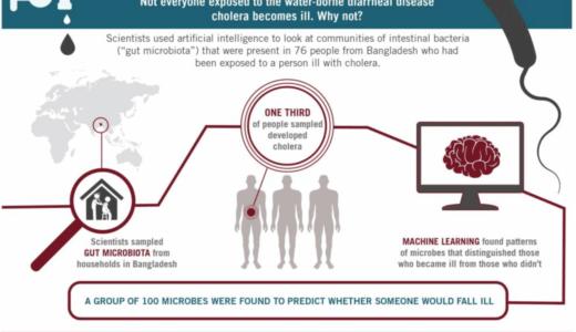 機械学習でコレラ菌にかかりやすい腸内細菌のパターンを検出